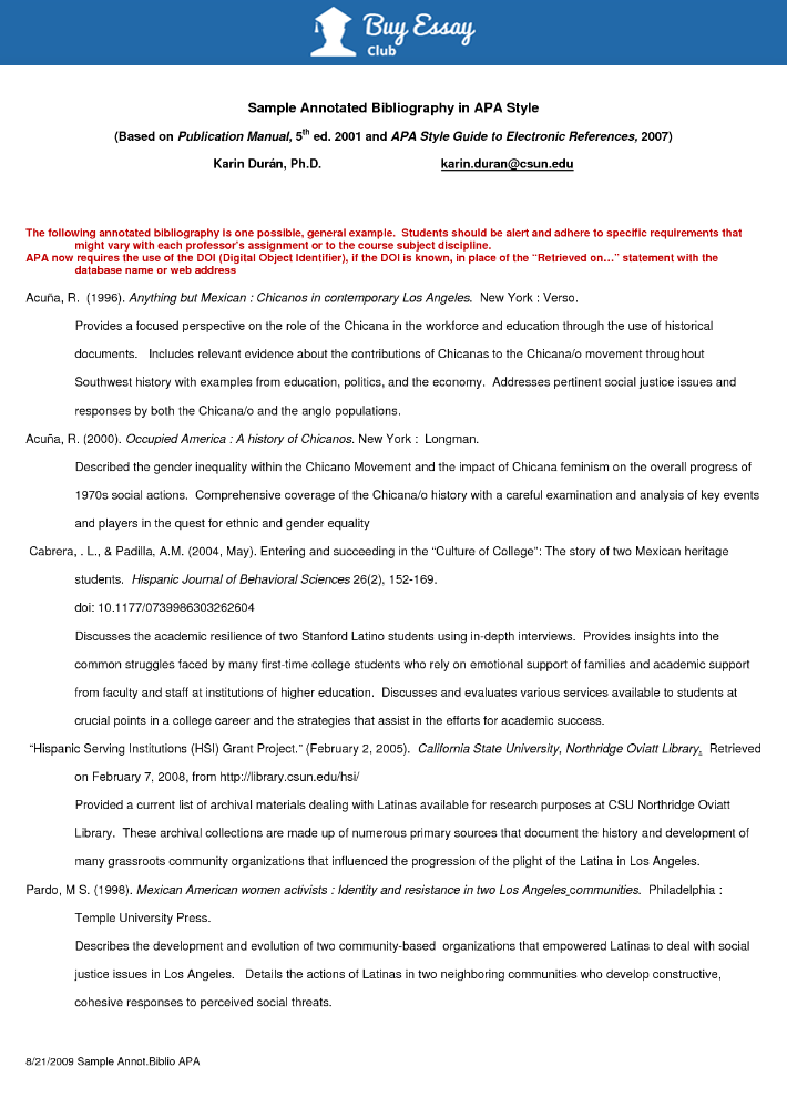 what constitues a blog for annotated bibliography example