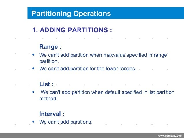 list partition in oracle 11g example