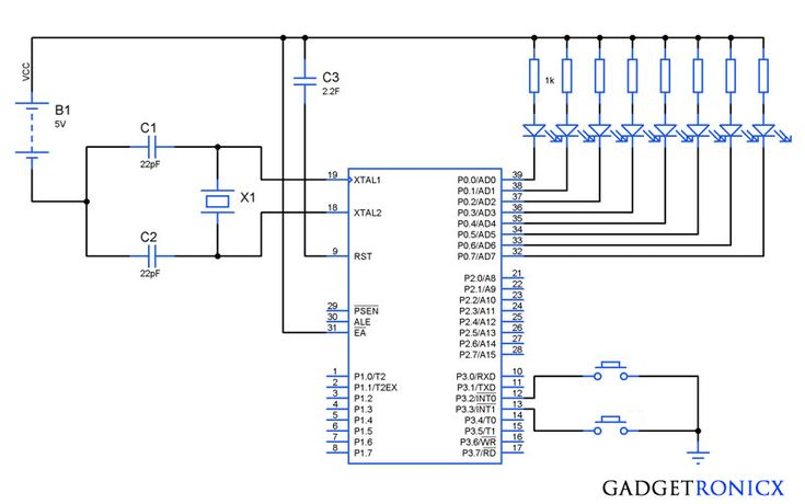 8051 interrupt example in assembly