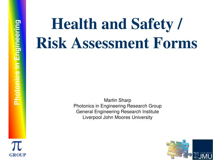 health and safety risk assessment example