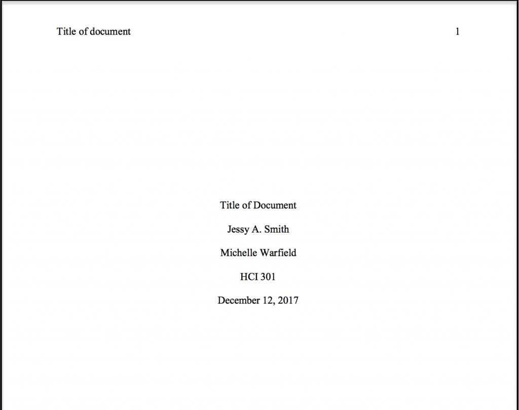 title page format for essay example