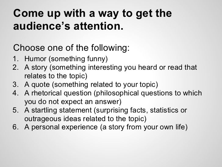 example of speech about life