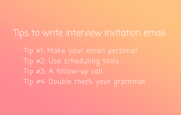 reply to an interview invitation email example