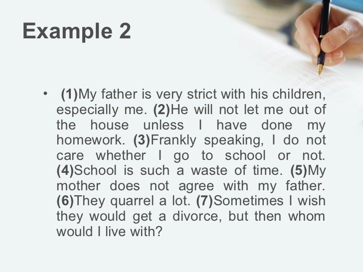 all about me example paragraph