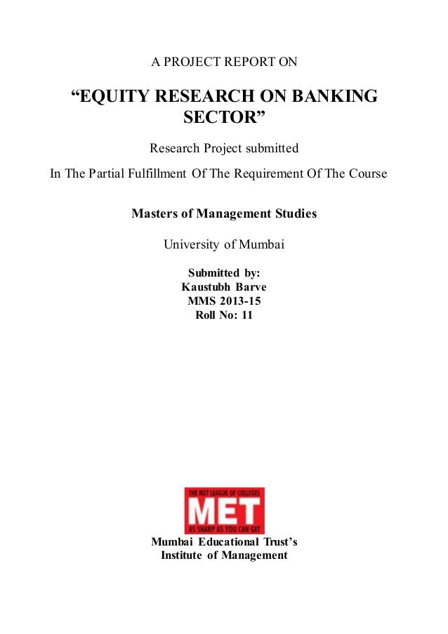 equity research report example pdf