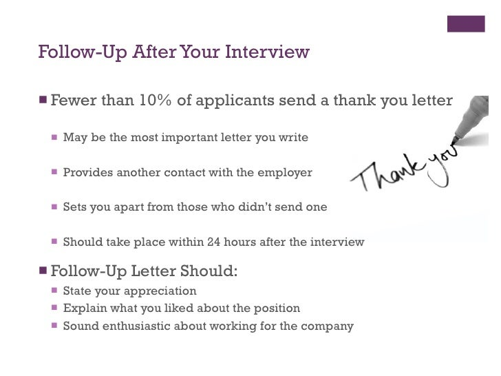 example email follow up after interview