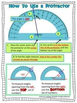 protractor given on page example