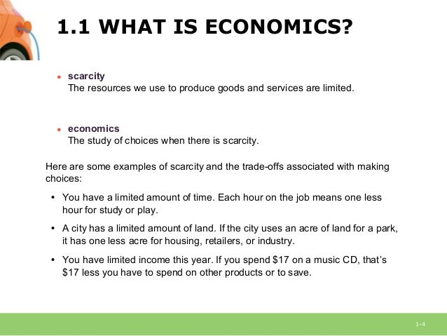 example of scarcity and choice