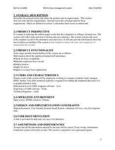 example requirements document for software development
