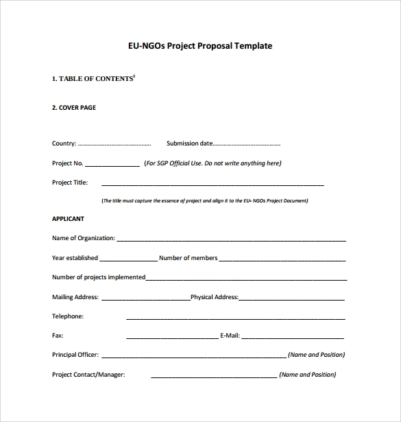 proposal for an art project example