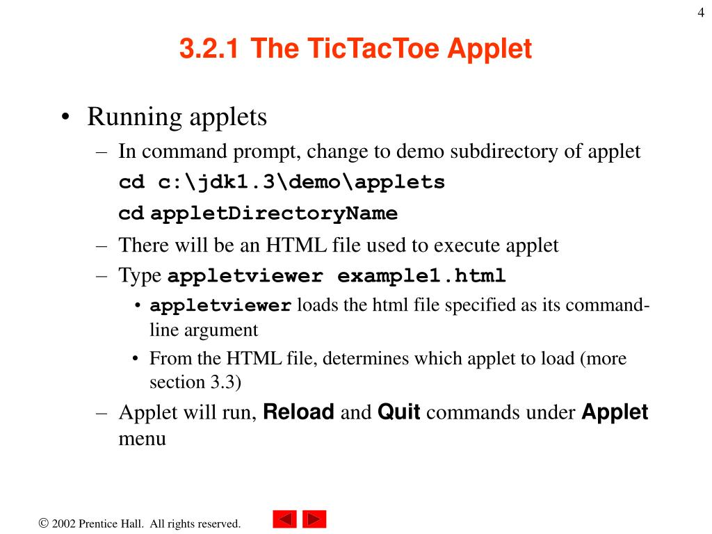 example of applets in application