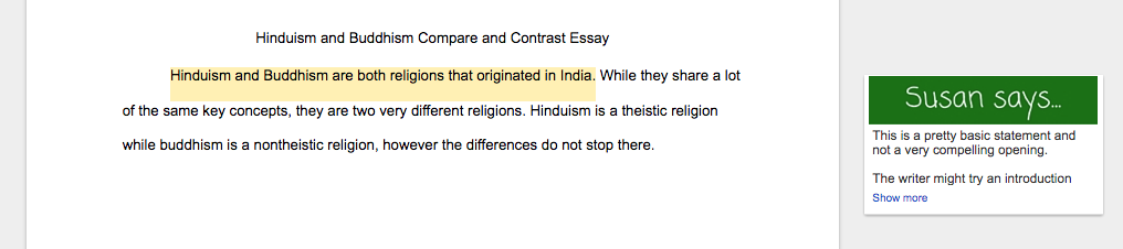 example of comparison essay introduction