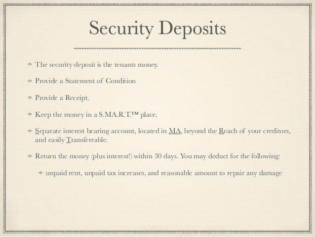 landlord letter to keep security deposit example