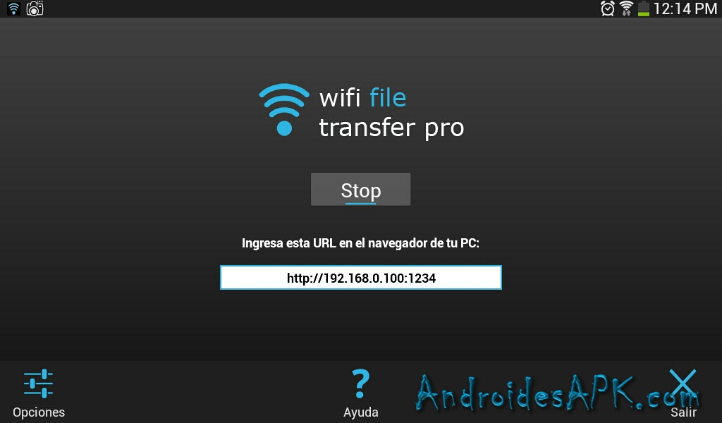 android wifi file transfer example