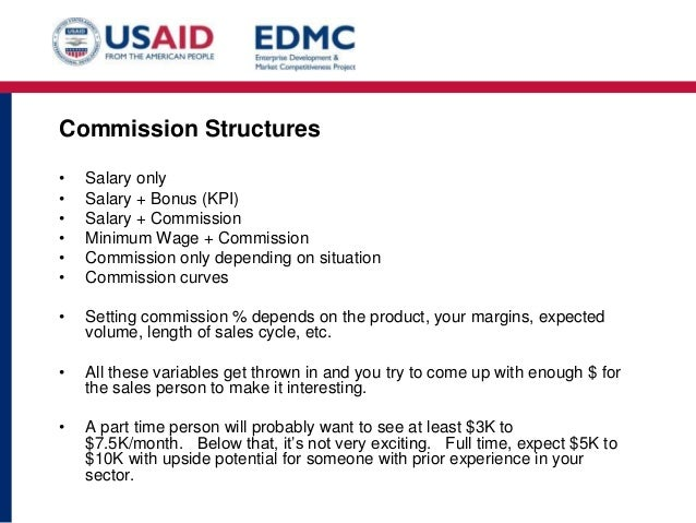 commission structure for sales reps example
