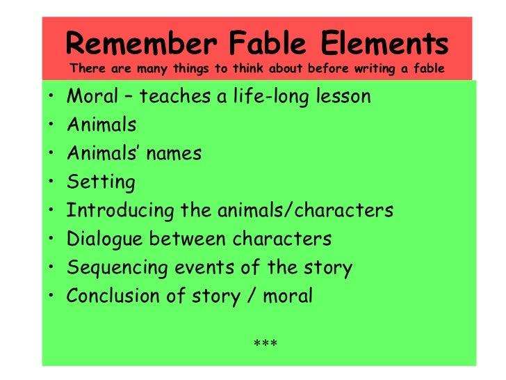 example of fables with moral lesson