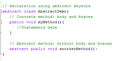 example of abrstract classes java