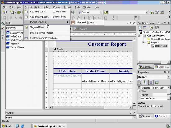 example of i.t project report for database