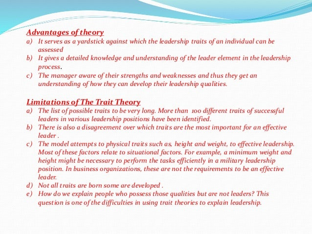 example of style theory of leadership