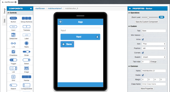 mobile drag and drop example