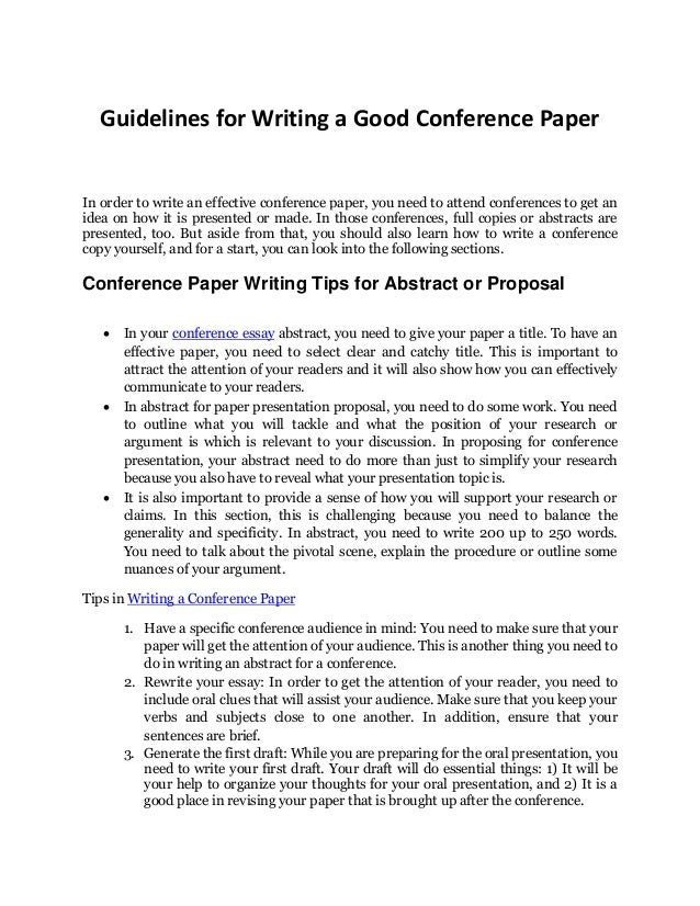 how to write a good abstract example