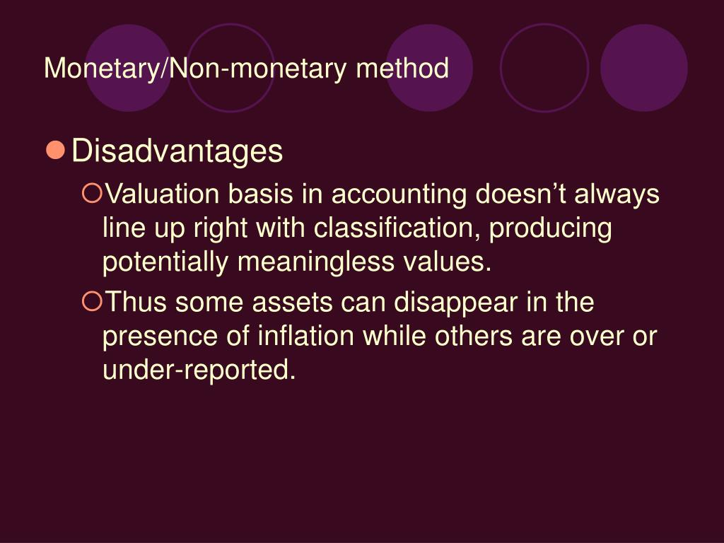nonmonetary assets and liabilities measured at current value example