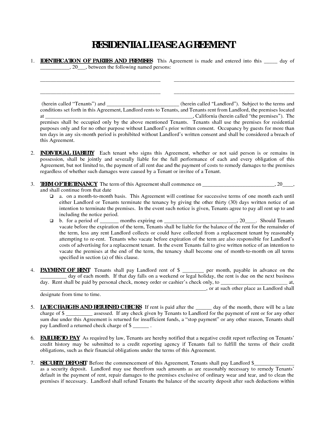 residential tenancy eviction letter example
