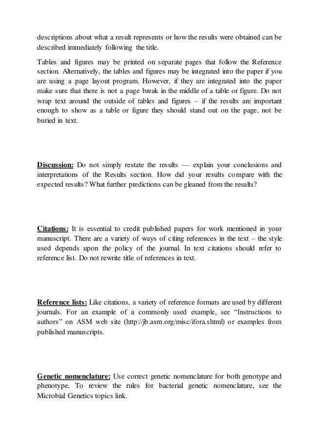 results section scientific paper example