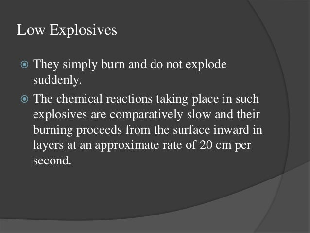what is an example of a high explosive